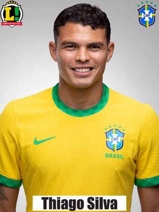 Slide 4 de 19: Thiago Silva - 6,5 - Teve bom aproveitamento nos passes e mostrou segurança nos bloqueios e desarmes realizados.