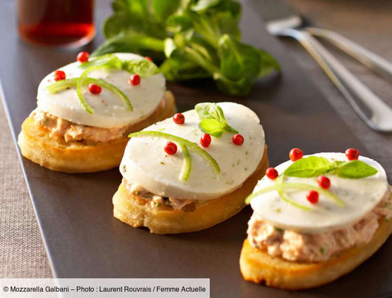 Slide 8 of 46: Sardine mousse with lime and mozzarella