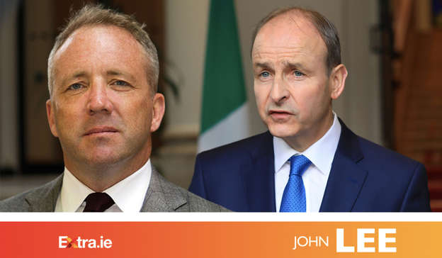 Micheal Martin wearing a suit and tie