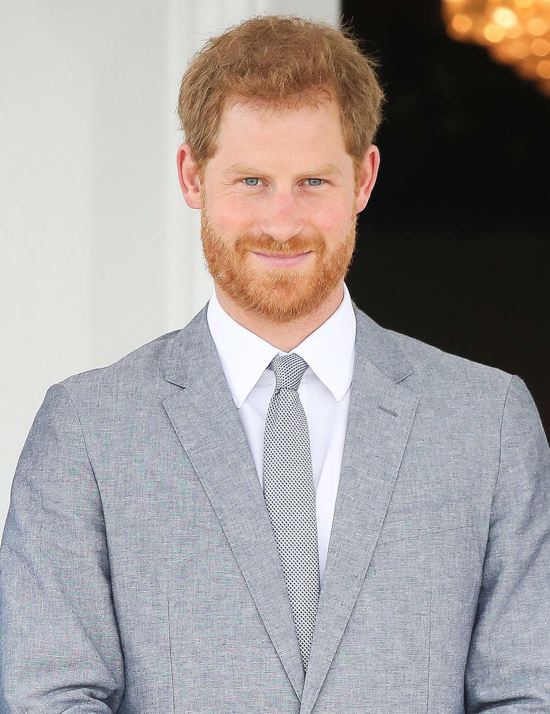 Prince Harry wearing a suit and tie: Chris Jackson/Getty Images Prince Harry