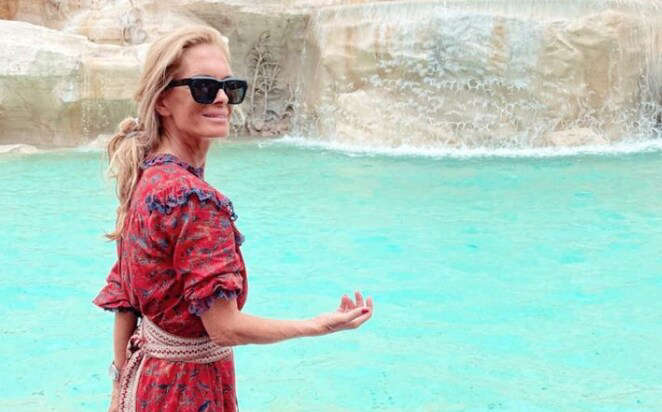 a person standing in front of water: An image shared on Lady Kitty's Instagram showed that her mother Victoria was in Rome for the big day - Instagram