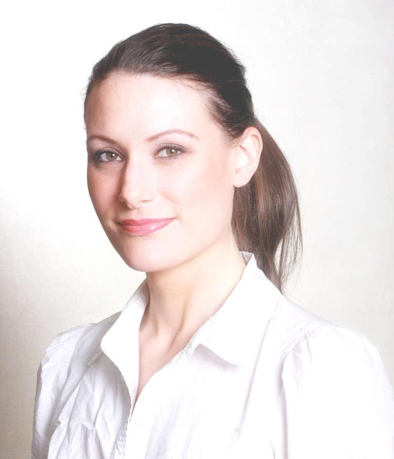 Rachel Marsden wearing a dress shirt and tie: Rachel Marsden.