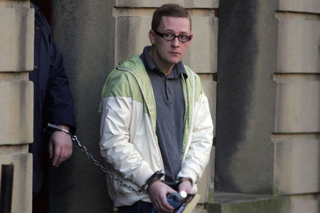 a man standing in front of a building: Derek 'Del Boy' Hutch leaving court during a previous court appearance