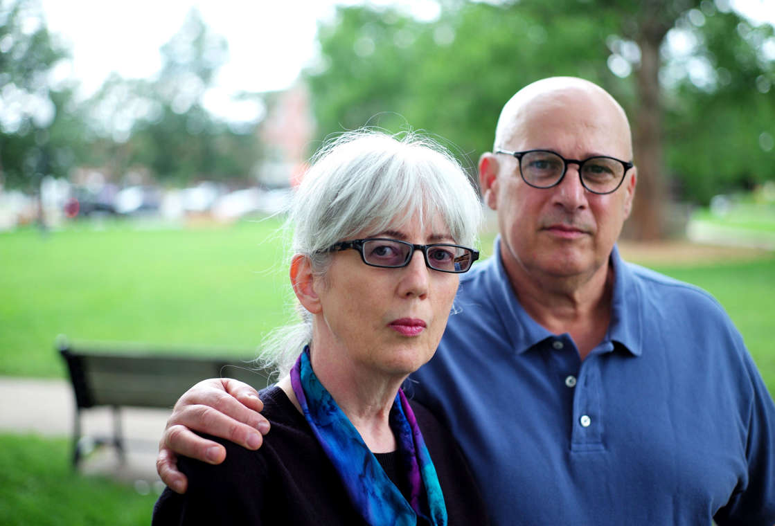Ricky Powell wearing sunglasses posing for the camera: Ina and David Steiner are a Natick couple who are suing eBay after company employees harassed and stalked them.