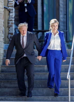 Boris Johnson, Carrie Symonds are posing for a picture: Britain's Prime Minister Boris Johnson and his wife Carrie Johnson Pic: Getty