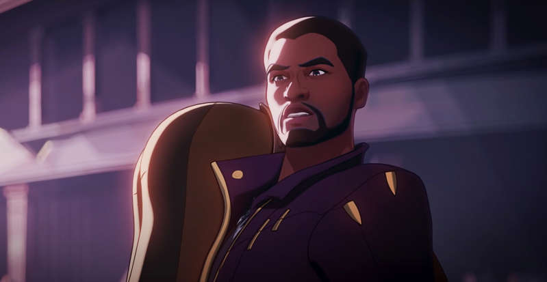 """a person wearing a costume: Boseman becomes Star-Lord in Marvel's """"What If...?"""" Marvel Studios"""