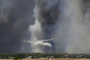 Several villages were evacuated as a result of the forest fires.