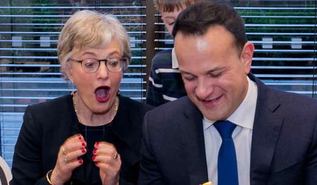 Katherine Zappone, Leo Varadkar posing for the camera: The poll indicates the public believes the Merriongate controversy highlights a 'them and us' divide between voters and their political masters Photo:Gareth Chaney/Collins
