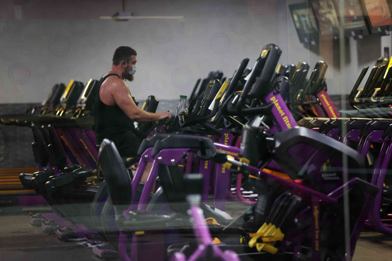 A man works out in an empty gym in Brooklyn on December 01, 2020 in New York City.
