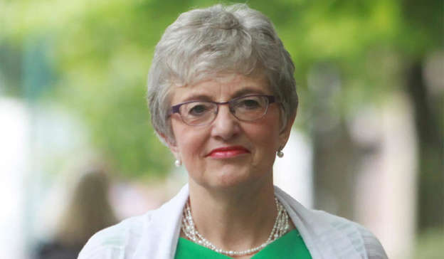 Katherine Zappone wearing glasses and smiling at the camera: Fianna Fáil senator Diarmuid Wilson said that anger was still high in Fianna Fáil over Katherine Zappone's appointment as UN special envoy for freedom of expression and free speech, which she has since rescinded; the dinner in Dublin's Merrion Hotel; and Green Party leader Eamon Ryan's attendance at a celebration for party member Claire Byrne at a cricket club. Pic: RollingNews.ie