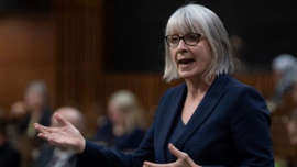 a woman looking at the camera: Federal Health Minister Patty Hajdu says recent modelling for Alberta forecasts a more serious resurgence in cases fuelled by the Delta variant, and all governments need to take reasonable steps to protect Canadians.