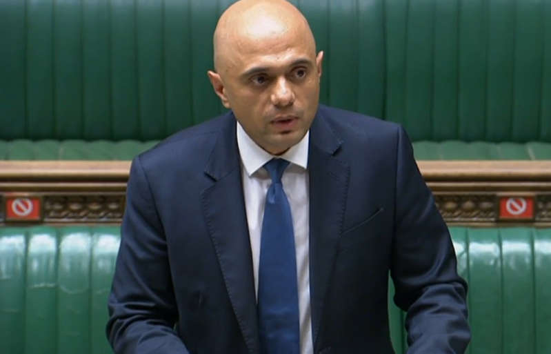Health Secretary Sajid Javid updating MPs on the governments coronavirus plans, in the House of Commons, London. Picture date: Monday July 12, 2021. (Photo by House of Commons/PA Images via Getty Images)