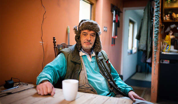 Ian Bailey sitting at a table with a cup of coffee: Ian Bailey has fired a warning to RTÉ over an anticipated appearance by murder victim Sophie Toscan du Plantier's son on The Late Late Show this Friday night. Pic: Tom Honan