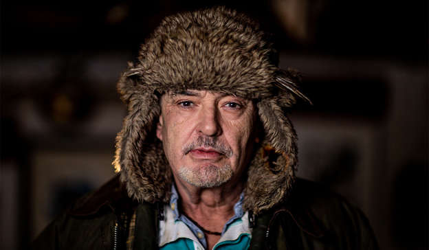 a close up of Ian Bailey wearing a hat: Mr Bailey wants to appear on the show to refute any allegation that he murdered the French film-maker if they are made by Pierre-Louis Baudey-Vignaud. Pic: Tom Honan