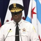 a man wearing a uniform: Chicago police unveil new gun task force
