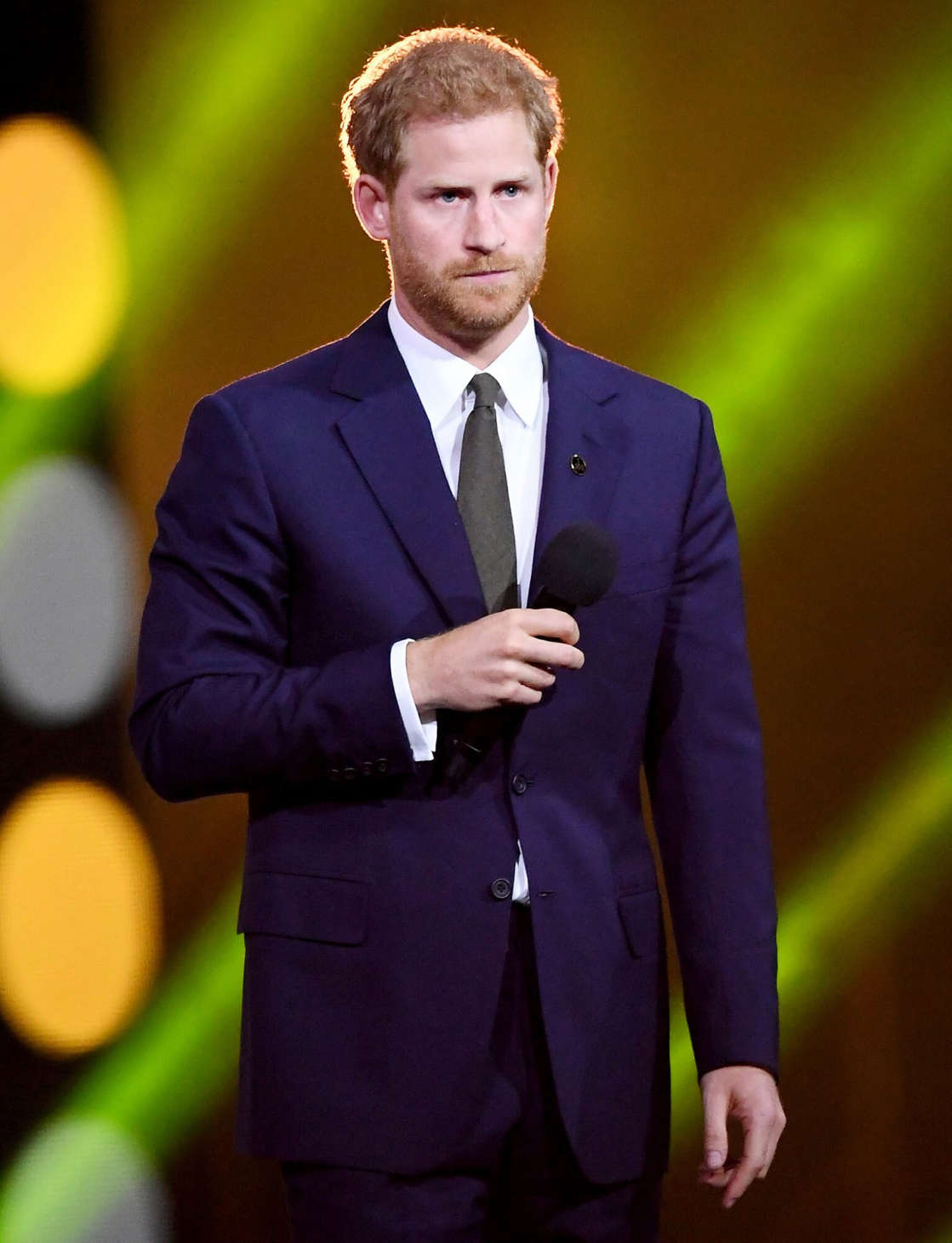 Prince Harry wearing a suit and tie: Samir Hussein/WireImage Prince Harry