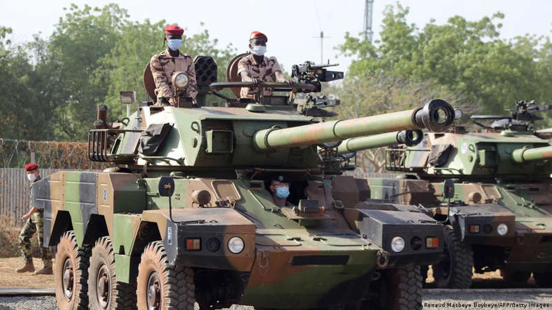 a person in a military vehicle: Chadien soldiers fight against terrorism. Ghana has a robust security system and is less affected by attacks