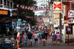 Commercial Street in Provincetown, photographed Tuesday.