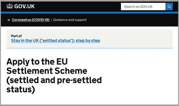 graphical user interface, text, application, email: EU nationals had until July 1 to make an application for the scheme