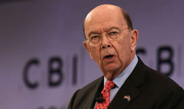 Wilbur Ross wearing a suit and tie: China-USA tensions