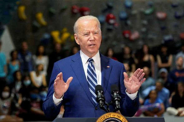 Joe Biden wearing a suit and tie: Joe Biden is not fit for office a former White House physician has claimed