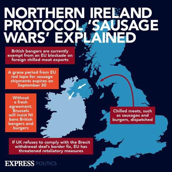 map: Brexit latest: It comes after Journalist Owen Polley suggested the Northern Ireland Protocol was 'not about keeping the peace, but the EU exerting con