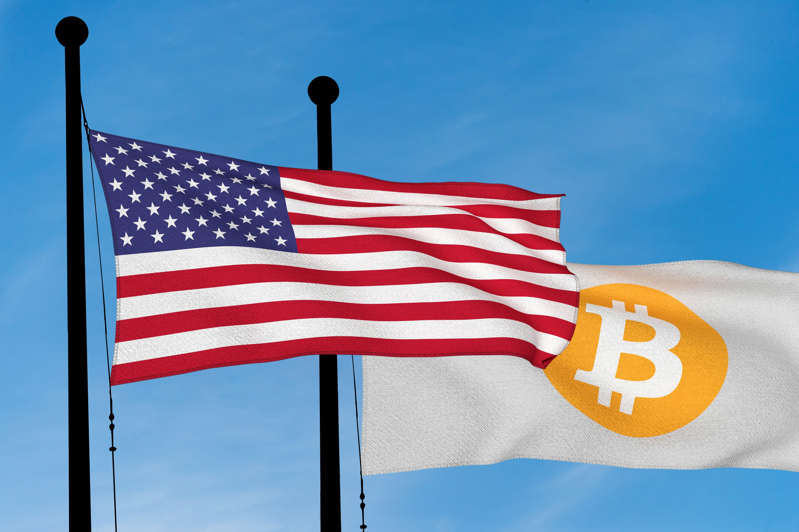 a close up of a flag: Why Bitcoin, Ethereum, and Dogecoin All Popped on Monday