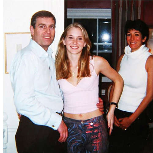Prince Andrew, Duke of York, Ghislaine Maxwell posing for the camera: The details of the lawsuit allege that Ms Roberts was instructed by Jeffrey Epstein to have sex with the royal on more than one occasion. Pic: REX/Shutterstock