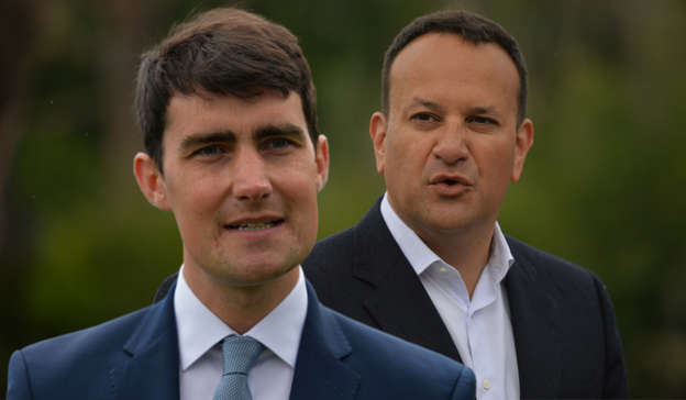 Jack Chambers, Leo Varadkar are posing for a picture
