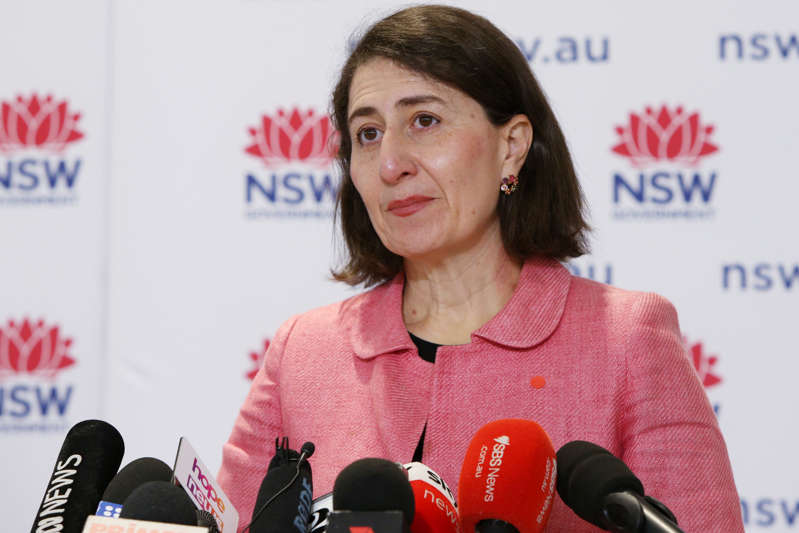 NSW Premier Gladys Berejiklian speaks during a COVID-19 update and press conference on August 23, 2021 in Sydney, Australia.