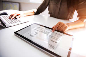 text: Configuring the database details for Invoice Plane.