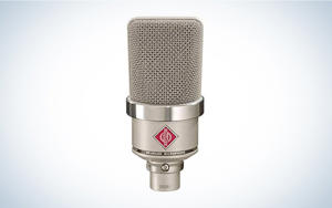 a close up of a microphone: Hi-fi vocal sound in a small package.