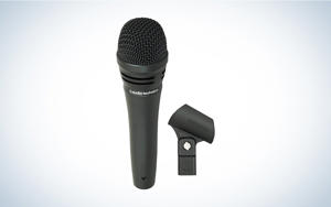 a close up of a microphone: The design couldn't be more basic, but it gets the job done.