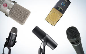 a close up of a microphone: Our guide on choosing the best microphone for recording vocals.
