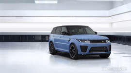 a car parked on the side of a road: Range Rover Sport SVR Ultimate edition debuts with 575bhp
