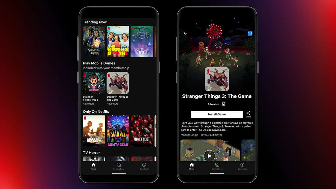 graphical user interface, application: Netflix mobile games
