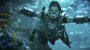 a person swimming in the water: Sony Computer Entertainment of America