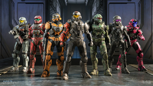 a group of people in uniform: 343 Industries/Microsoft