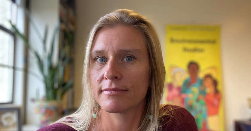 a close up of a person: Sarah Ray, a professor of environmental studies at Humboldt State University in Arcata, California, and author of