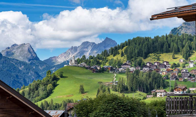 a view of a mountain: Selva di Cadore. Photograph: Rudolf Ernst/Getty Images