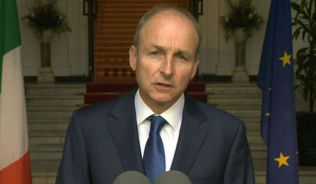 Micheal Martin wearing a suit and tie: Barry Cowan shared that Micheál Martin should also acknowledge the 'startling information' contained within the texts.
