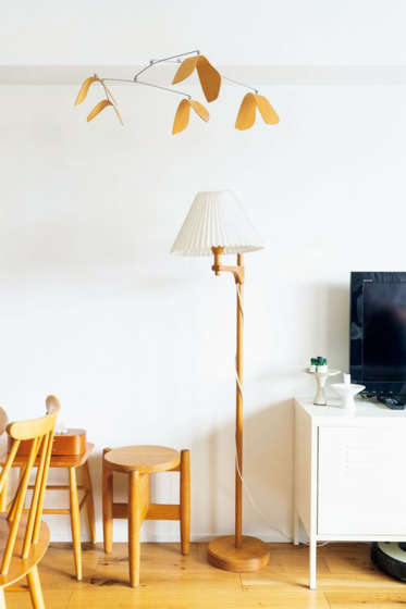Light stand in living room