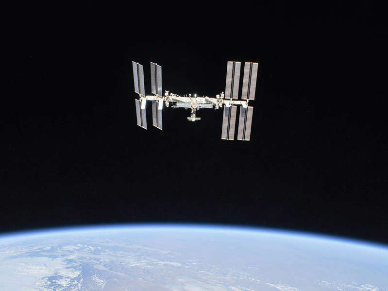 a satellite in space: The International Space Station has been orbiting the Earth since 1998 and continuously inhabited since 2000  - Nasa