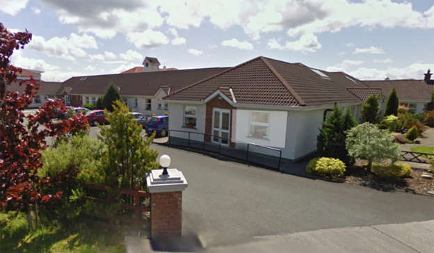 a small house in a garden: Laurel Lodge Nursing Home in Longford Town is understood to have over a dozen cases of the virus among residents and staff. Pic: Google Maps
