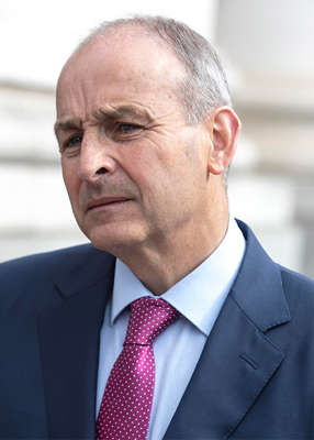 Micheal Martin wearing a suit and tie: Micheal Martin has watched recent documentaries on the unsolved case and was struck 'by the nobility and the dignity of Sophie's family.' Pic: Damien Eagers/PA Wire