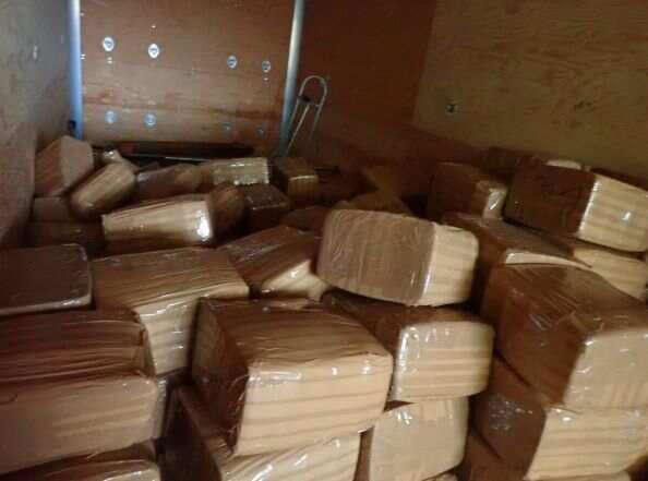a pile of wood: CBP officers in San Diego seized 2.8 Tons of meth and fentanyl at Otay Mesa Commercial Facility. / Credit: U.S. Customs and Border Protection