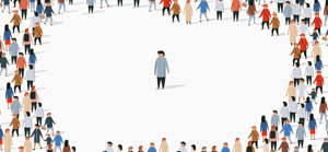 a group of people standing in front of a crowd: Why Disruptive Innovation Doesn't Work and What Strategy to Use Instead