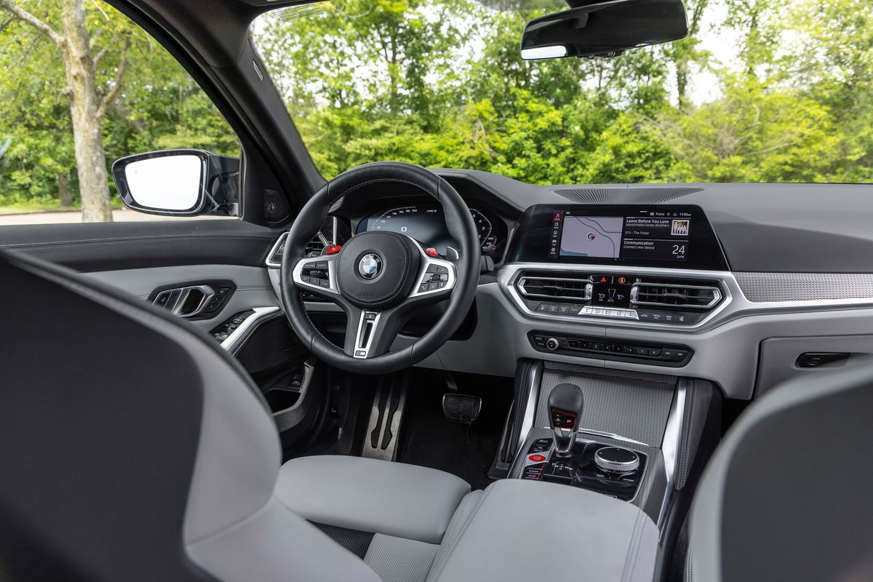 a view of a car: 2021 BMW M3 Competition