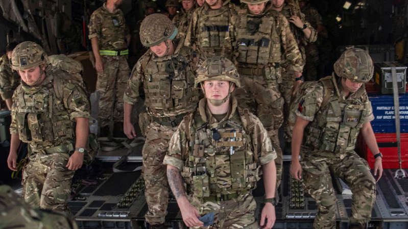 a group of people standing in a military uniform: There will soon be around 900 British troops in Kabul. Pic: Ministry of Defence