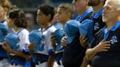 a group of people standing in front of a crowd: Previewing the Little League World Series: video